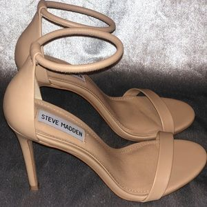 Steve Madden Nude Strappy Heels size US 7